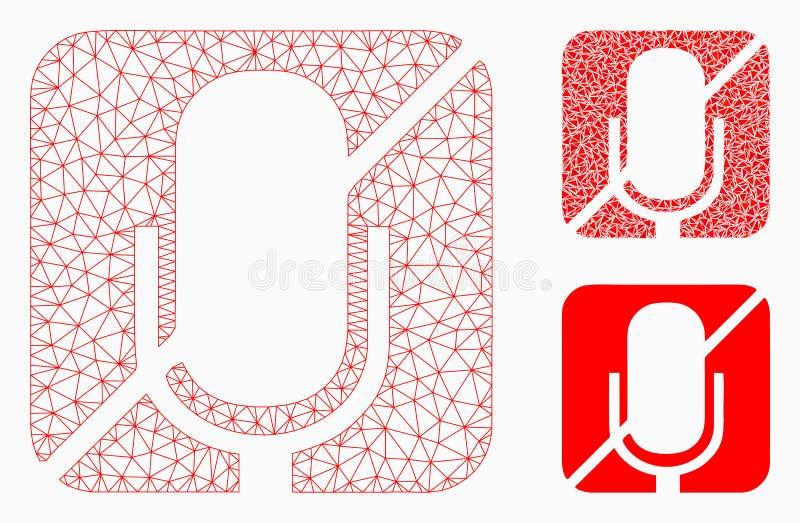 Βουβά διανυσματικά 2$α πρότυπο πλέγματος και εικονίδιο μωσαϊκών τριγώνων ελεύθερη απεικόνιση δικαιώματος