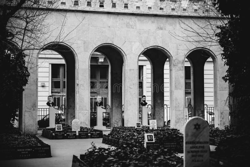 ΒΟΥΔΑΠΕΣΤΗ, ΟΥΓΓΑΡΙΑ 30 Μαρτίου 2017, γραπτές λεπτομέρειες αρχιτεκτονικής φωτογραφιών της συναγωγής της Βουδαπέστης, συναγωγή Doh στοκ εικόνες