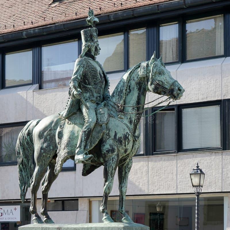 ΒΟΥΔΑΠΕΣΤΗ, HUNGARY/EUROPE - 21 ΣΕΠΤΕΜΒΡΊΟΥ: Άγαλμα Hadik Andras στοκ φωτογραφία με δικαίωμα ελεύθερης χρήσης