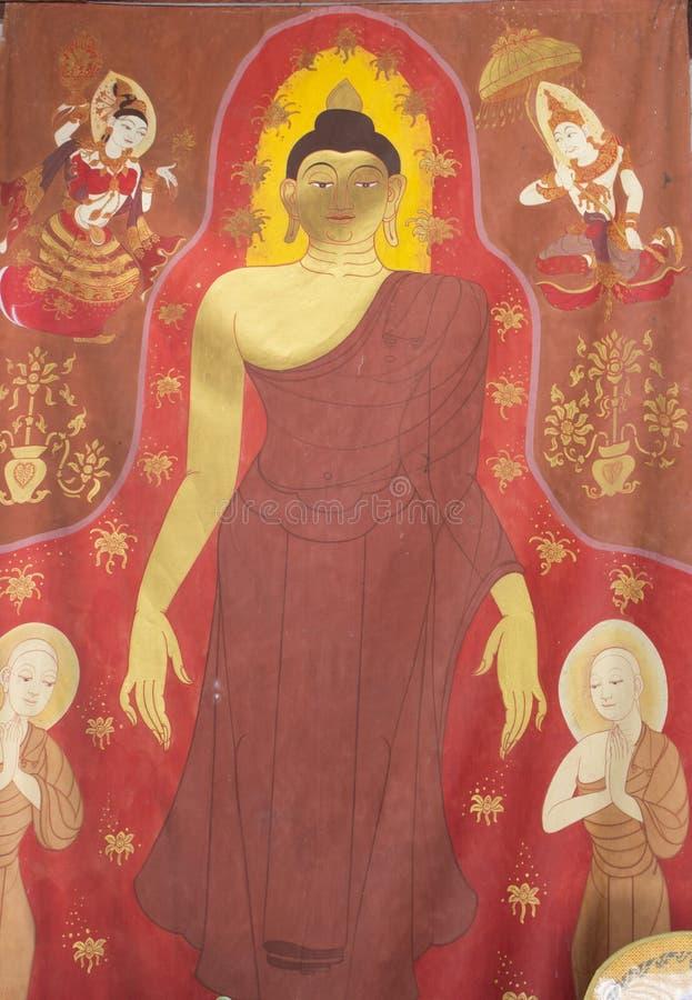 Βουδιστικά έργα ζωγραφικής στοκ εικόνες