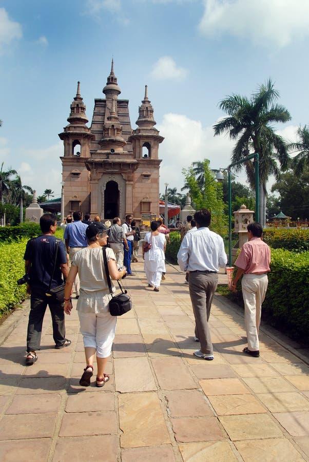 βουδιστικοί ναοί sarnath στοκ εικόνα