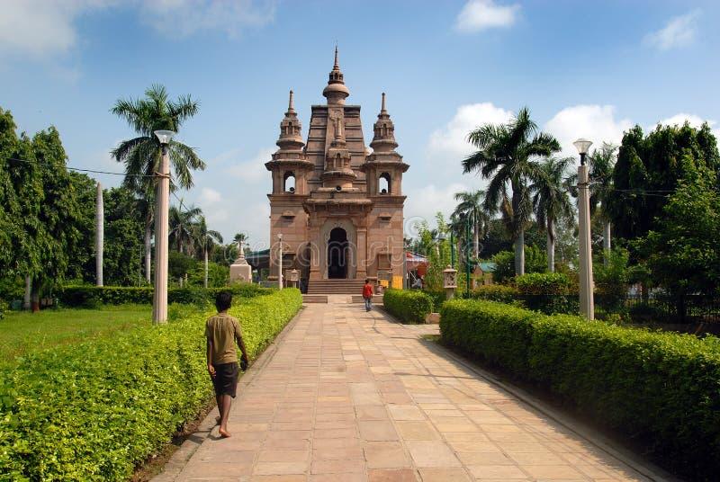 βουδιστικοί ναοί sarnath στοκ φωτογραφίες με δικαίωμα ελεύθερης χρήσης