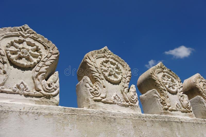 βουδιστικός τοίχος ναών στοκ εικόνα