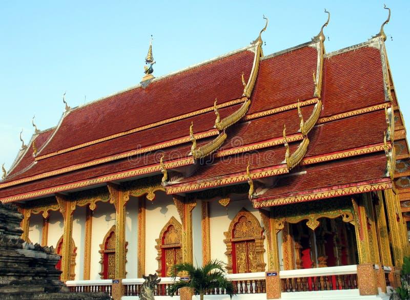 βουδιστικός Mai Chiang ναός Στοκ Φωτογραφίες