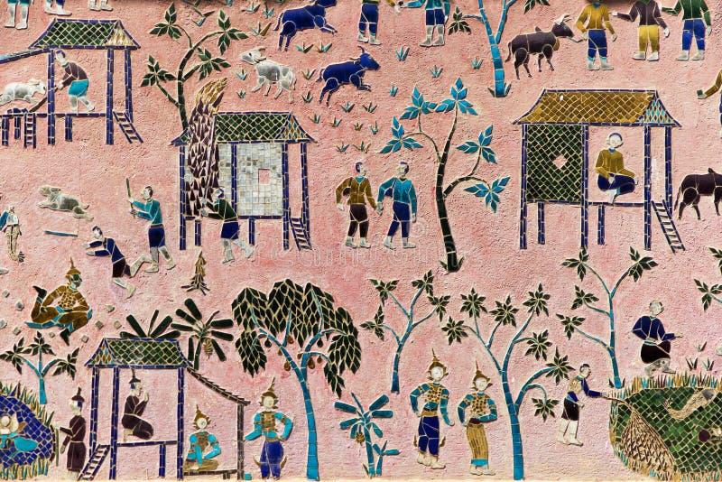 βουδιστικό Λάος τέχνης ν&omicr στοκ φωτογραφία με δικαίωμα ελεύθερης χρήσης