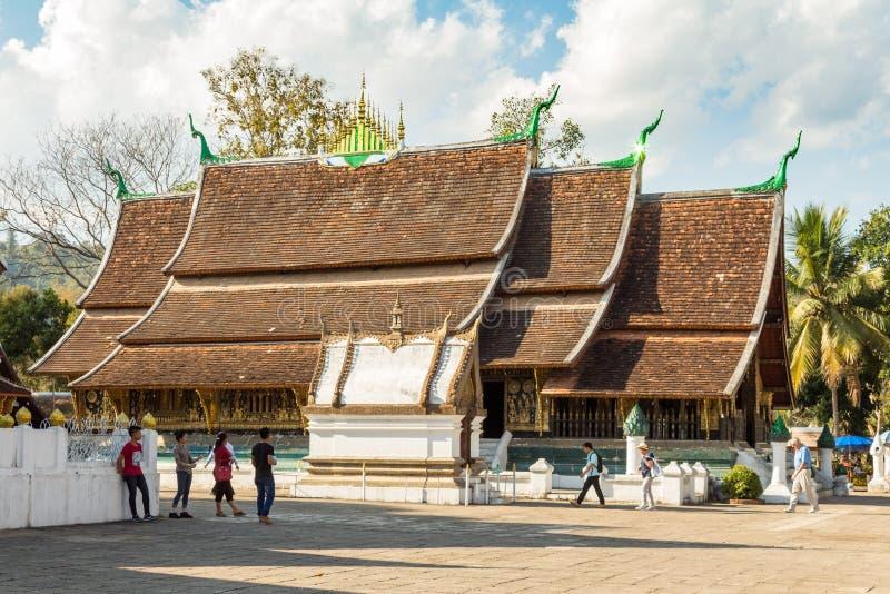 Βουδιστικό λουρί Wat Xieng ναών, Luang Prabang, Λάος, Νοτιοανατολική Ασία στοκ φωτογραφίες με δικαίωμα ελεύθερης χρήσης