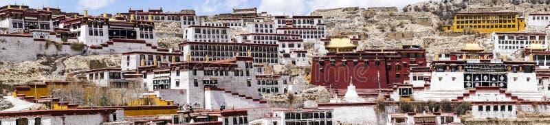 Βουδιστικό μοναστήρι Ganden κοντά σε Lhasa, Θιβέτ στοκ εικόνα με δικαίωμα ελεύθερης χρήσης