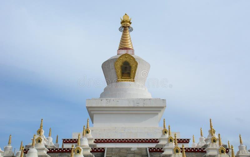 Βουδιστικό Stupa σε Daocheng, Κίνα στοκ φωτογραφία με δικαίωμα ελεύθερης χρήσης