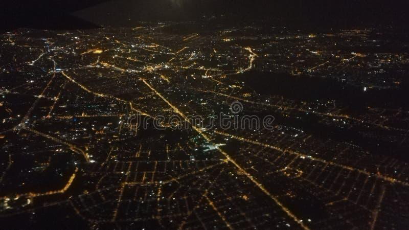 Βουκουρέστι από το αεροπλάνο στοκ φωτογραφίες