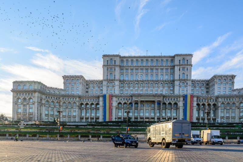 Βουκουρέστι, Ρουμανία - 1 Δεκεμβρίου: Casa Poporului την 1η Δεκεμβρίου, στοκ φωτογραφία με δικαίωμα ελεύθερης χρήσης