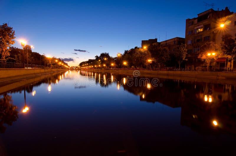Βουκουρέστι στο ηλιοβασίλεμα στοκ φωτογραφίες