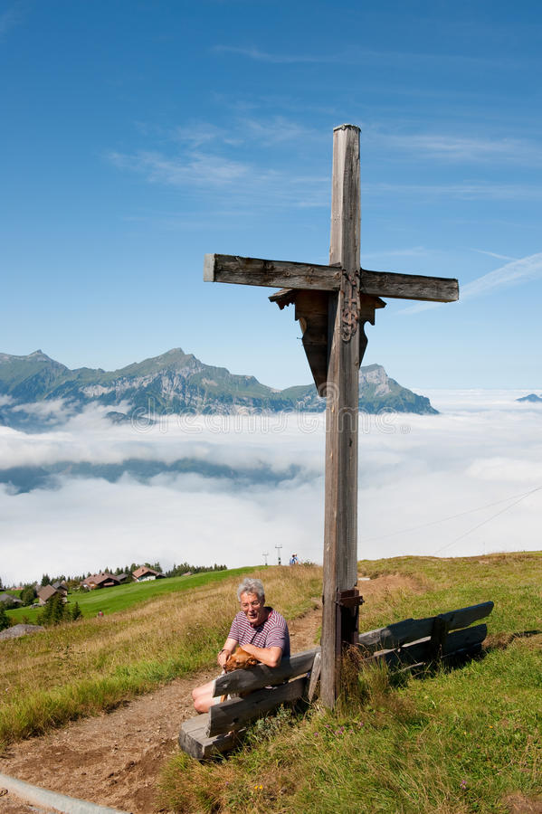 βουνά Ελβετία στοκ φωτογραφίες με δικαίωμα ελεύθερης χρήσης