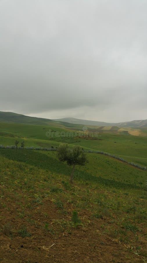 Βουνά και πόλης περιοχή fes, Μαρόκο στοκ φωτογραφίες
