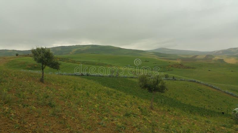 Βουνά και πόλης περιοχή fes, Μαρόκο στοκ φωτογραφία