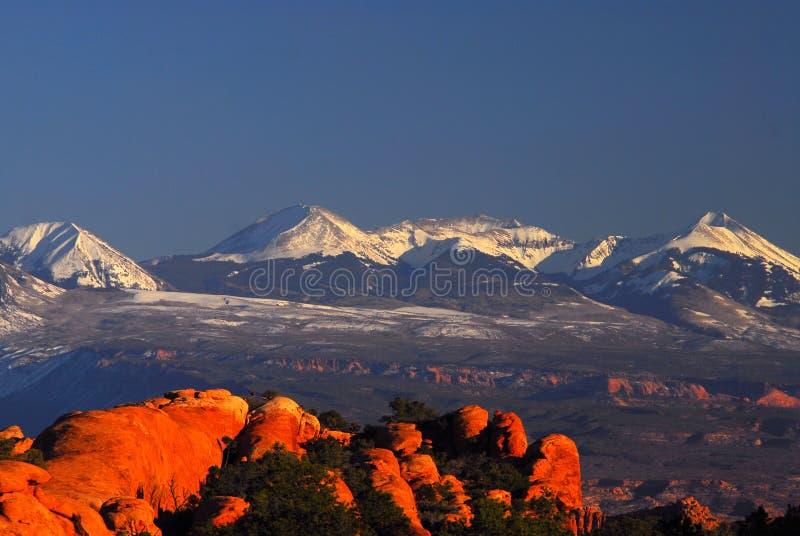 βουνά Λα salle στοκ εικόνες