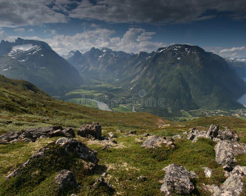 βουνά νορβηγικά στοκ εικόνα