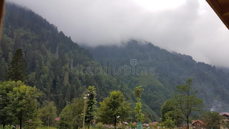 βουνά ομίχλης στοκ εικόνες με δικαίωμα ελεύθερης χρήσης