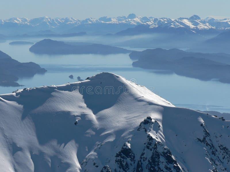 βουνά Παταγωνία στοκ εικόνες