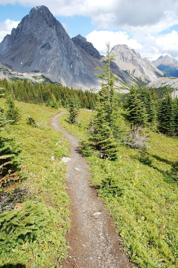 βουνά πεζοπορίας που σύρουν στοκ εικόνα με δικαίωμα ελεύθερης χρήσης