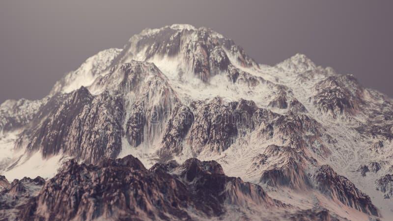 Βουνά που καλύπτονται με το χιόνι ελεύθερη απεικόνιση δικαιώματος