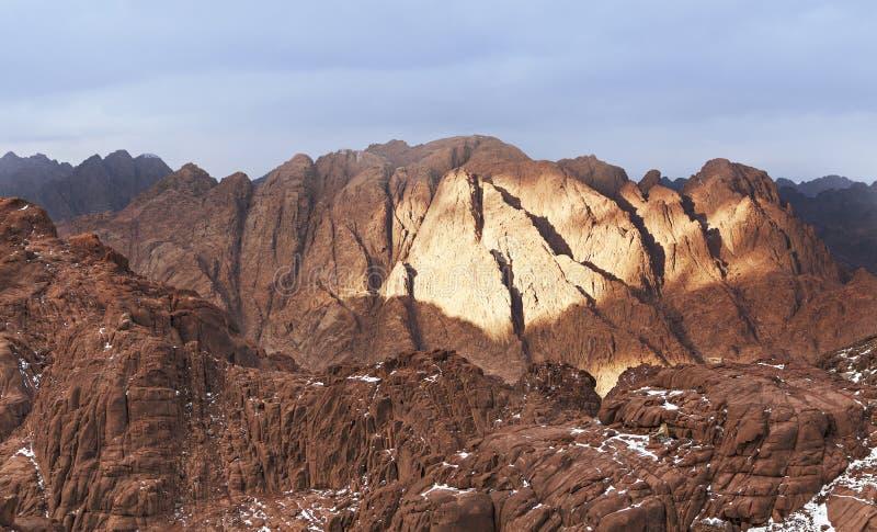 Βουνά σειράς sinaï στοκ εικόνες