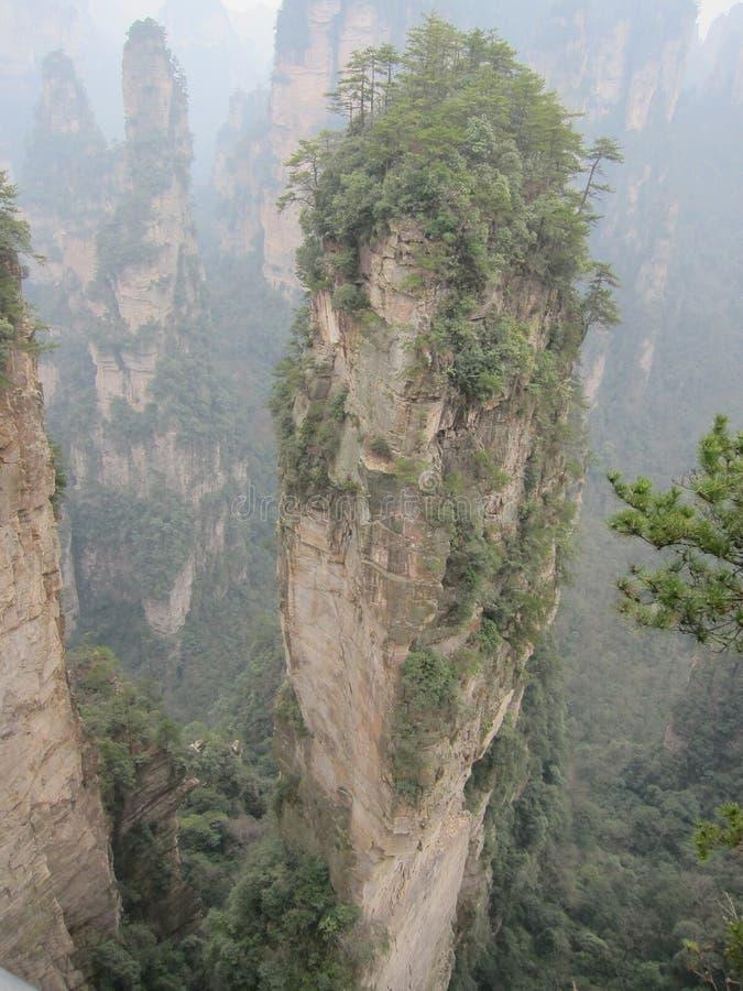 Βουνά σε Zhanjiajie στοκ εικόνες με δικαίωμα ελεύθερης χρήσης