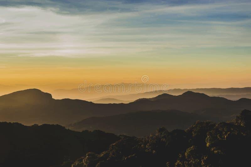 Βουνά στο βόρειο τμήμα της Ταϊλάνδης διανυσματική απεικόνιση