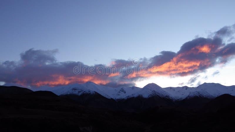 Βουνά στο πέρασμα Arthurs, Νέα Ζηλανδία στοκ φωτογραφία με δικαίωμα ελεύθερης χρήσης