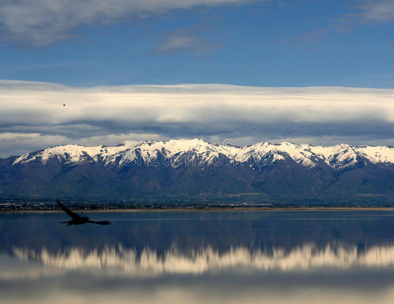 Βουνά Σόλτ Λέικ στοκ φωτογραφίες