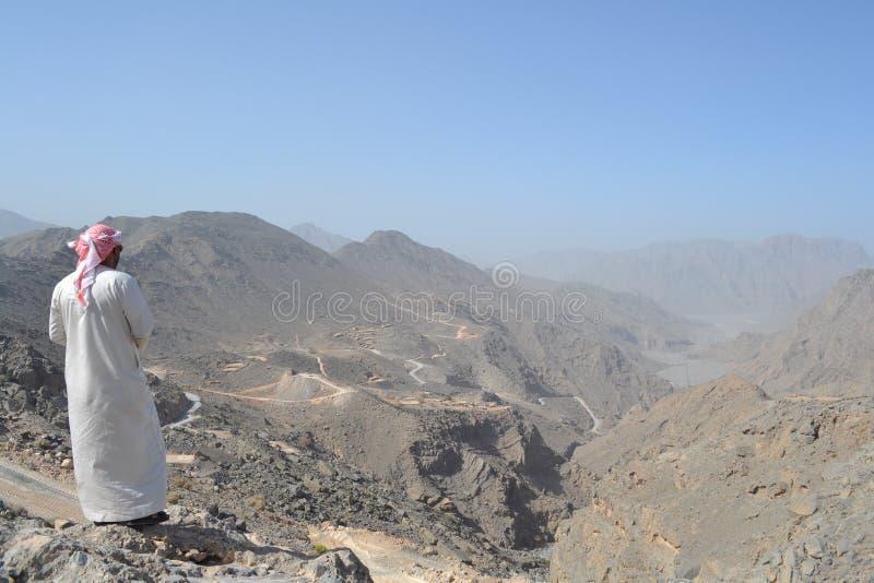 Βουνά της χερσονήσου Musandam στοκ φωτογραφία με δικαίωμα ελεύθερης χρήσης