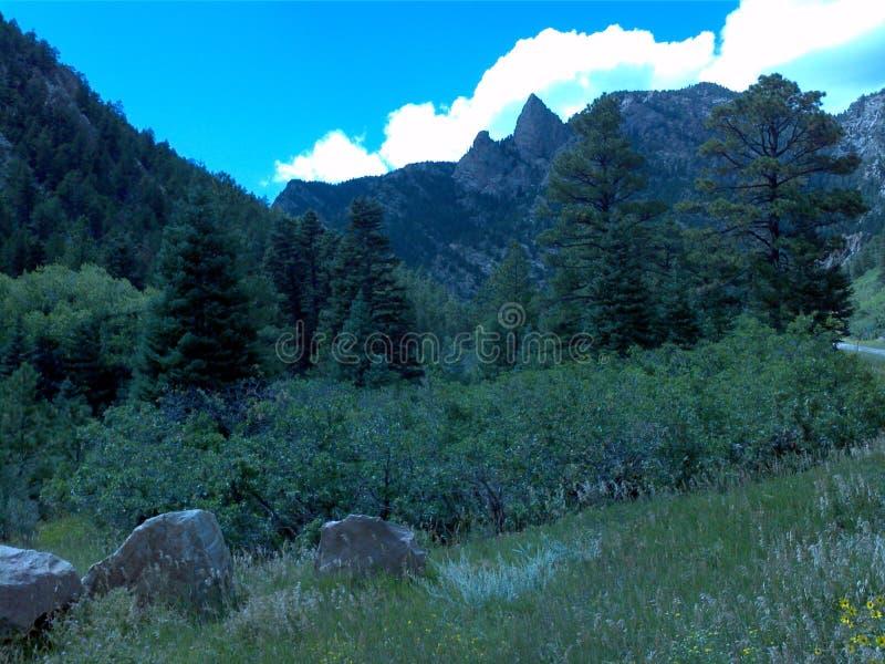 βουνά του Κολοράντο δύσ&ka στοκ φωτογραφία
