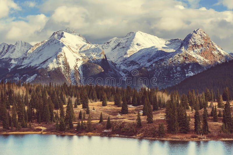 βουνά του Κολοράντο στοκ φωτογραφίες