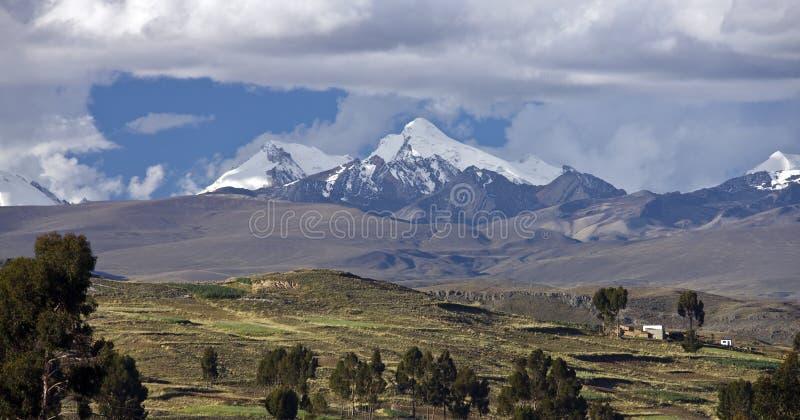 βουνά των Άνδεων Βολιβία στοκ εικόνα