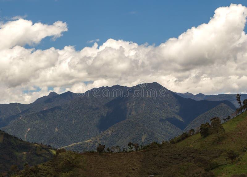 Βουνά των Άνδεων, Νότια Αμερική, Ισημερινός στοκ φωτογραφία