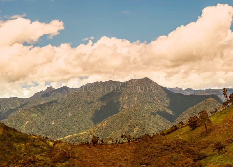 Βουνά των Άνδεων, οροσειρά δυτική στοκ φωτογραφίες