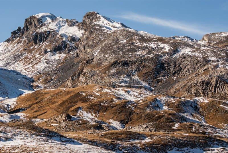 Βουνά frontera del Portalet, Huesca, Αραγονία, Ισπανία των Πυρηναίων στοκ φωτογραφίες με δικαίωμα ελεύθερης χρήσης