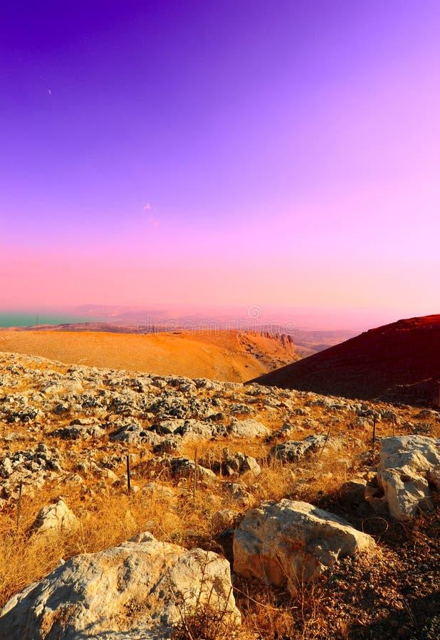 βουνά galilee στοκ φωτογραφία