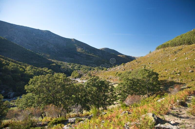 Βουνά Gredos το φθινόπωρο στοκ φωτογραφίες