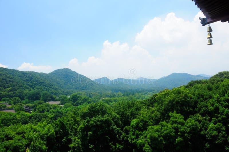 Βουνά Hangzhou Κίνα στοκ φωτογραφία με δικαίωμα ελεύθερης χρήσης