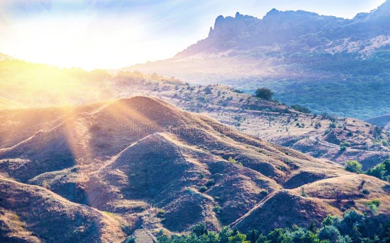 Βουνά Karadag της Κριμαίας στοκ φωτογραφίες