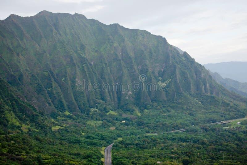 Βουνά Ko'olau, Oahu, Χαβάη στοκ εικόνες με δικαίωμα ελεύθερης χρήσης