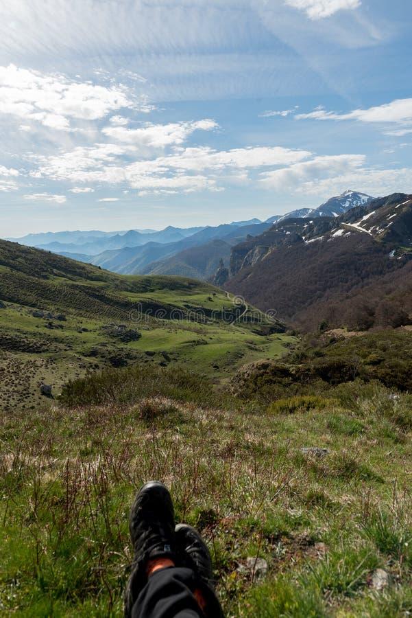 Βουνά Picos de Ευρώπη δίπλα σε Fuente de village Cantabria Ισπανία στοκ φωτογραφίες με δικαίωμα ελεύθερης χρήσης