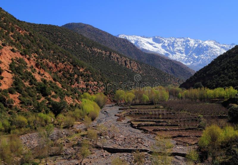 Βουνά Toubkal ατλάντων του Μαρόκου στοκ φωτογραφία με δικαίωμα ελεύθερης χρήσης