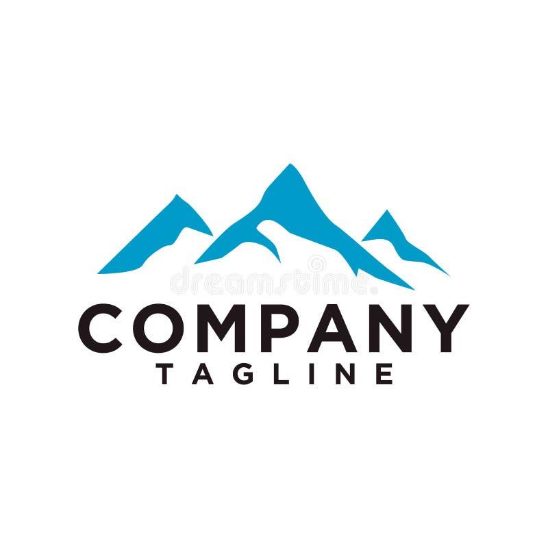 Βουνό ή λόφος ή μέγιστο διάνυσμα σχεδίου λογότυπων Το εικονίδιο στρατόπεδων ή περιπέτειας, σύμβολο τοπίων και μπορεί να χρησιμοπο ελεύθερη απεικόνιση δικαιώματος