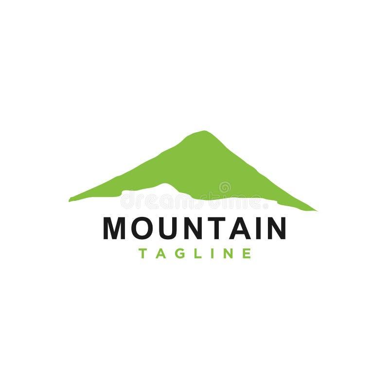 Βουνό ή λόφος ή μέγιστο διάνυσμα σχεδίου λογότυπων απεικόνιση αποθεμάτων