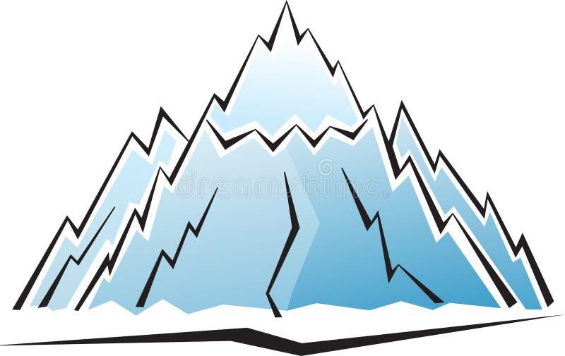 βουνό εικονιδίων διανυσματική απεικόνιση