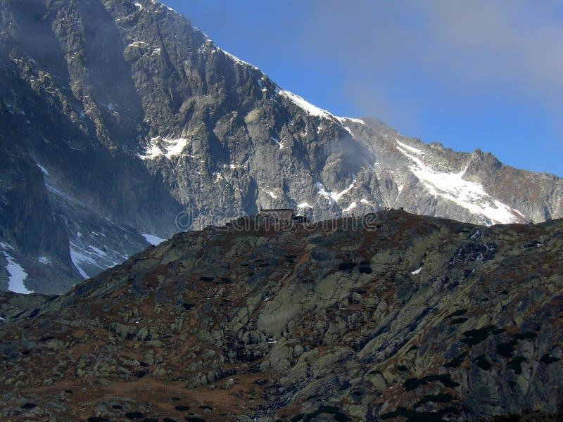 βουνό εξοχικών σπιτιών στοκ φωτογραφίες