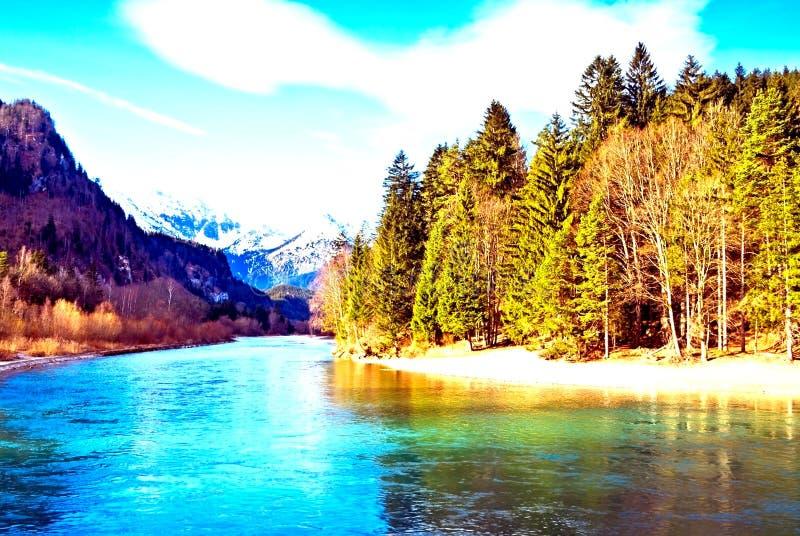 Βουνό, θάλασσα & δάσος στοκ φωτογραφία
