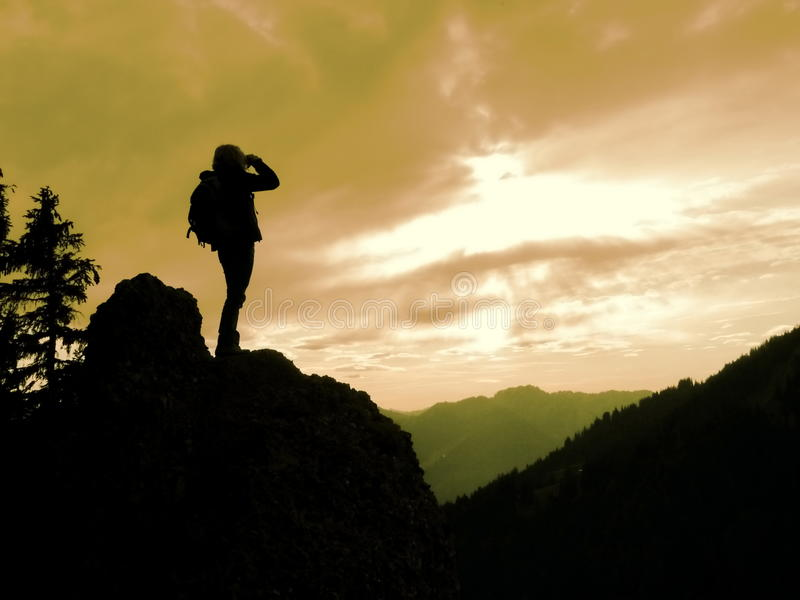 Βουνό διοπτρών γυναικών στοκ φωτογραφίες με δικαίωμα ελεύθερης χρήσης