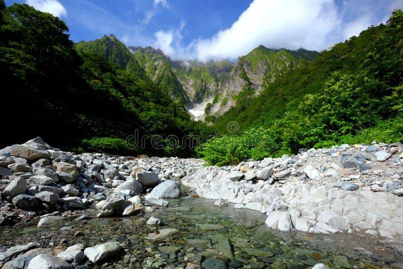 Βουνό και χιονώδης κοιλάδα στοκ φωτογραφία με δικαίωμα ελεύθερης χρήσης